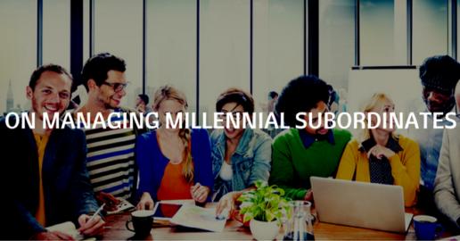 managing millennial subordinates